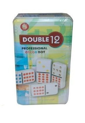 DOUBLE 12 COLOR DOT DOMINOES -