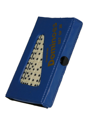 DOMINO - DOUBLE 6 JUMBO BLUE