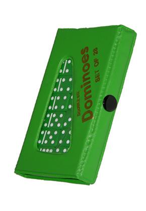 DOMINO - DOUBLE 6 JUMBO GREEN