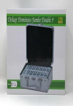 Deluxe double 9 jumbo dominoes