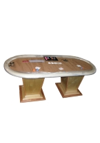 BROWN SEUDE TEXAS HOLDEM TABLE