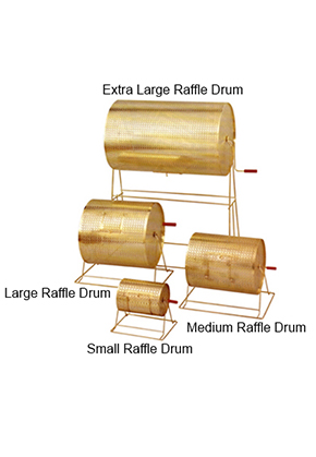 LARGE BRASS RAFFLE DRUM