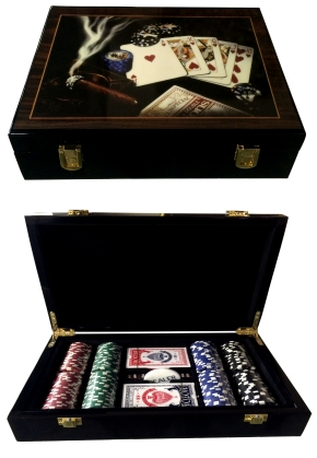 Chip Set 200 High Gloss Poker Chip Sets Gamblers
