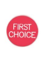 1.25 INCH FIRST CHOICE RED/WHITE