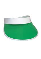 GREEN PLASTIC VISOR
