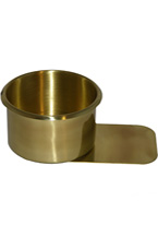 JUMBO BRASS W/TONGUE DRINK HOLDER