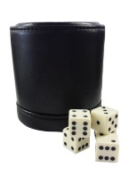 LEATHER DICE CUP Dice, Novelty dice, playing dice, color dice