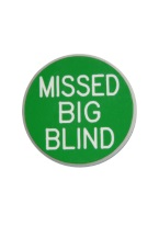 1.25 INCH MISSED BIG BLIND GREEN/WHITE