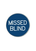 1.18 INCH MISSED BLIND BLUE/WHITE