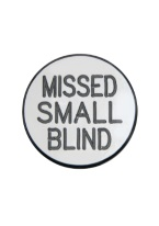 1.25 INCH MISSED SMALL BLIND WHITE/BLACK