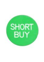 1.25 INCH SHORT BUY GREEN/WHITE
