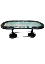 OBLONG RIVIERA TEXAS HOLDEM TABLE poker table, poker tables, poker, table, tables, riviera, holdem, oblong, texas holdem
