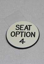 1.25 INCH WHITE SEAT OPTION 4