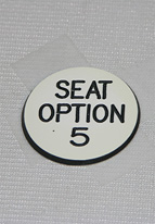 1.25 INCH WHITE SEAT OPTION 5