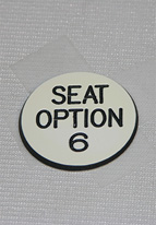 1.25 INCH WHITE SEAT OPTION 6
