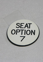 1.25 INCH WHITE SEAT OPTION 7