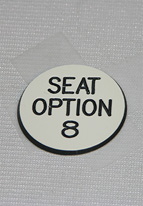 1.25 INCH WHITE SEAT OPTION 8
