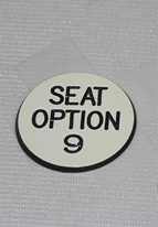 1.25 INCH WHITE SEAT OPTION 9