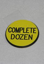 1.25 INCH YELLOW COMPLETE DOZEN