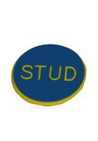 1.25 INCH BLUE STUD