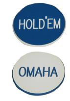 1.25 INCH BLUE/WHITE OMAHA-HOLDEM