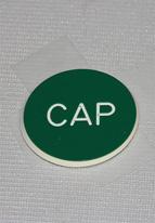 1.25 INCH GREEN CAP