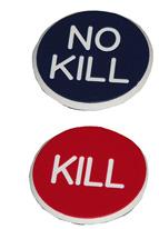 1.25 INCH RED/BLUE KILL/NO KILL