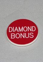 1.25 INCH RED DIAMOND BONUS