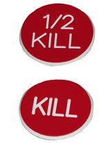 1.25 INCH RED KILL - 1/2 KILL