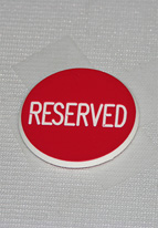 1.25 INCH RED RESERVED
