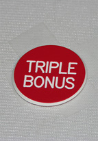 1.25 INCH RED TRIPLE BONUS