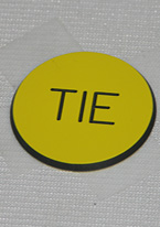 1.25 INCH YELLOW TIE