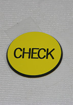 1.25 INCH YELLOW CHECK