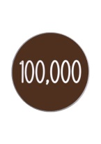 1.25 INCH 100,000 BROWN/WHITE