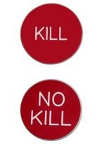 1.75 INCH KILL/NO KILL RED/WHITE