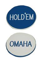 2 INCH BLUE/WHITE OMAHA HOLDEM