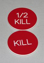 2 INCH RED KILL/1/2 KILL