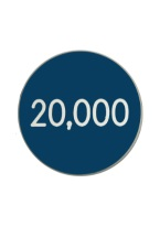 1.25 INCH 20,000 BLUE/WHITE