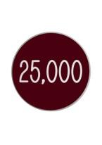 1.25 INCH 25,000 BURGUNDY/WHITE