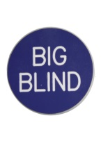 2 INCH BIG BLIND PURPLE/WHITE