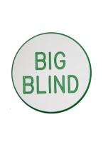 1.25 INCH BIG BLIND WHITE/GREEN
