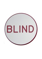 1.25 INCH BLIND WHITE/RED