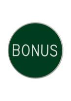 1.25 INCH BONUS GREEN/WHITE