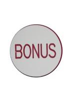 1.25 INCH BONUS WHITE/RED