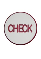 1.75 INCH CHECK WHITE/RED