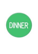 1.25 INCH DINNER GREEN/WHITE