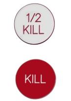1.75 INCH 1/2 KILL/KILL WHITE/RED RED/WHITE