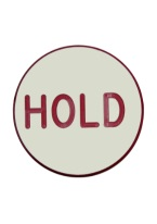 1.75 INCH HOLD WHITE/RED