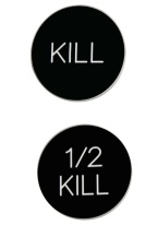 2 INCH KILL/1/2 KILL BLACK/WHITE