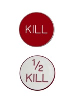0.75 INCH KILL/1/2 KILL WHITE/RED RED/WHITE